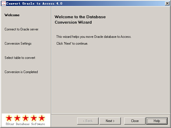 Click to view Convert Oracle to Access 4.0 screenshot